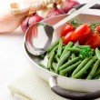 French Beans inside a pan — Stock Photo