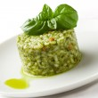 Risotto with Basil — Stock Photo