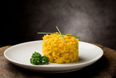 Risotto with saffron — Stock Photo