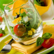 Mixed Salad inside a Glass — Stock Photo #5591085