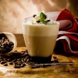 Cappucino with whipped cream - Stock Photo