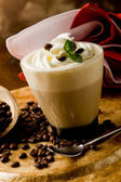 Cappucino with whipped cream — Stock Photo