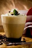 Cappucino with whipped cream — Stock Photo