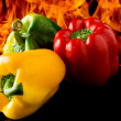 Pepper with fire background — Foto de Stock