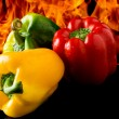 Royalty-Free Stock Photo: Pepper with fire background