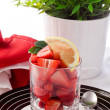 Strawberries with lemon - Stock Photo