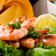 Grilled Prawns — Stock Photo