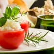 Stuffed Tomatoes with rice — Stock Photo