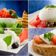 Tomato Mozzarella Collage — Stock Photo