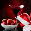 Cocktail with berries — Stock Photo