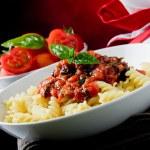 Macarrão com molho de tomate — Foto Stock
