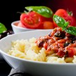 Pasta with Tomato sauce - Stock Photo