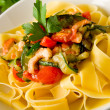 Pasta with Zucchini and Shrimps 2 — Stock Photo