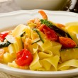 Pasta with Zucchini and Shrimps — Stock Photo #6144934
