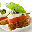 Caprese starter - Isolated - Stock Photo