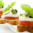 Caprese starter - Isolated — Stock Photo