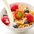 Corn flakes with berries - Isolated — Stock Photo #6200781