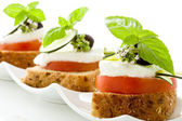 Caprese starter - Isolated — Foto Stock