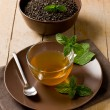 Green mint tea — Stock Photo