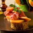 Ham and melon appetizer — Stock Photo #6279631