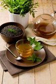 Green mint tea — Stock Photo