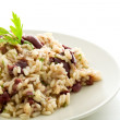Risotto with black olives — Stock Photo