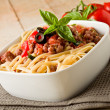 Stock Photo: Pastwith italisausage meat sauce