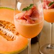 Stock Photo: Ham and Melon Cocktail