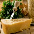 Ingredients for Risotto with Grana cheese — Stock Photo