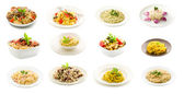 Pasta and Rice dishes - Collage — Stock Photo