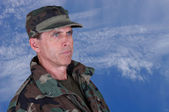 Soldier Staring Ahead — Stock Photo