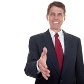 Business Man Extending Hand — Stock Photo