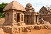 Rathas presso mahabalipuram — Foto Stock