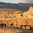 zabriskie point sunrise — Stock Photo