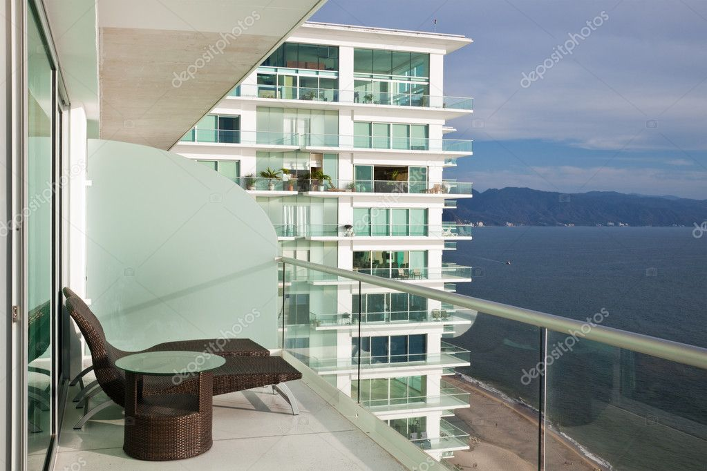 Modern condo balcony stock photo nstanev 5740486 for Condo balcony decorating ideas