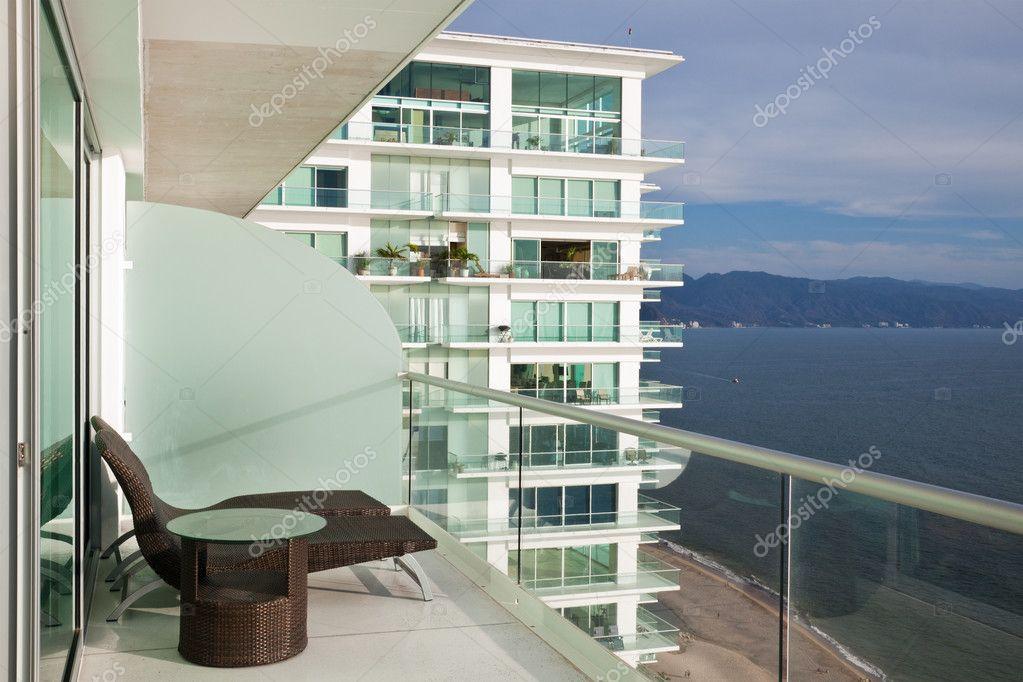 Modern condo balcony stock photo nstanev 5740486 for Condo balcony design