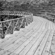 Ohrid Amphitheater in Black and White — Stock Photo #5863726