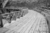 Ohri amfitiyatro siyah beyaz — Stok fotoğraf