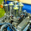 Hot rod engine — Stock Photo