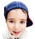 Portrait of a boy wearing a cap — Stockfoto