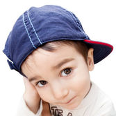 Portrait of a boy wearing a cap — Stock Photo