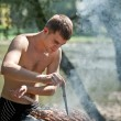 zomer barbecue — Stockfoto