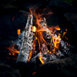 Bonfire. Hot Coals — Stock Photo