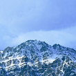 Top of High mountains, covered by snow. India. — Stock Photo