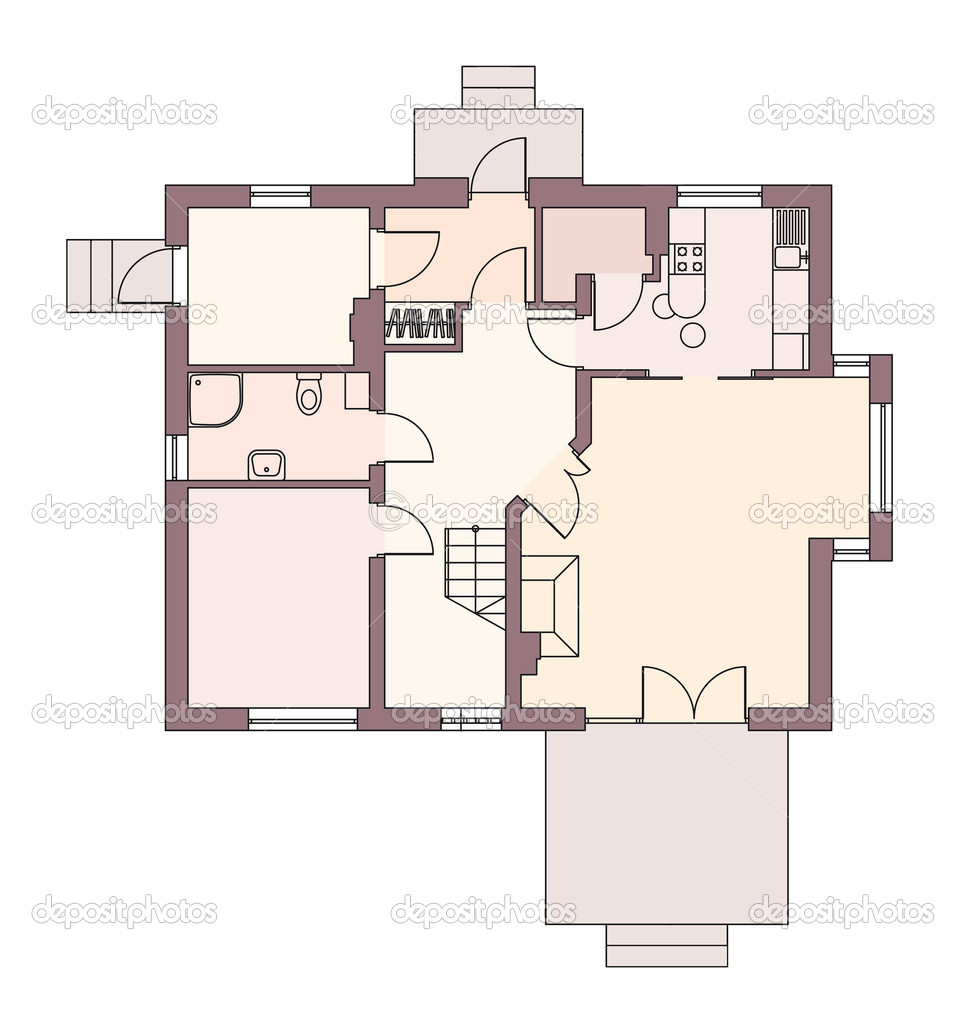 Architectural plans for house — Stock Photo © almatea 5822529