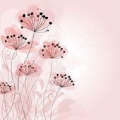 Romantic Flower Background — Cтоковый вектор