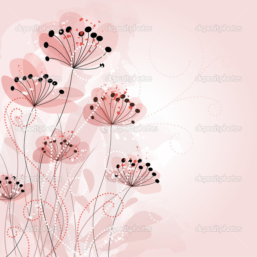 Romantic Flower Background  — Stock Vector #5822673