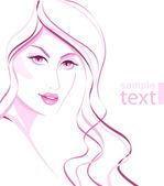 Beautiful woman — Stock Vector