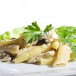 Penne pasta with fish — Stock Photo #6104893