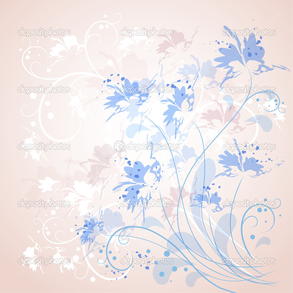 Romantic Flower Background  — Stock Vector #6105094